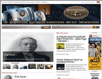 Main page screenshot of automobilia.pl