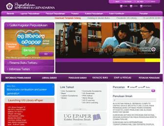 library.gunadarma.ac.id screenshot