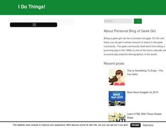 Main page screenshot of idothings.info