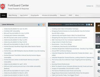 fortiguard.com screenshot