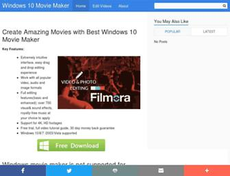 windows-10-movie-maker.com screenshot