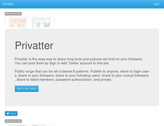 Thumbshot of Privatter.net