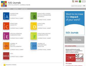 journals.iucr.org screenshot
