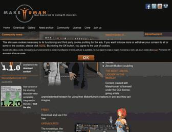 makehuman.org screenshot