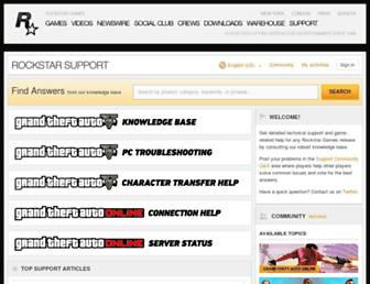 support.rockstargames.com screenshot