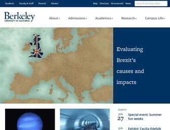 Main page screenshot of berkeley.edu