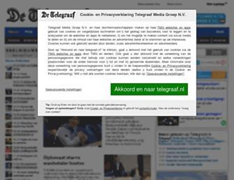 Main page screenshot of telegraaf.nl