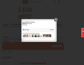 5starnotes.com screenshot
