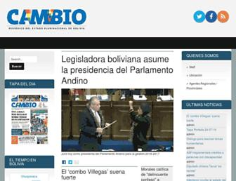 cambio.bo screenshot