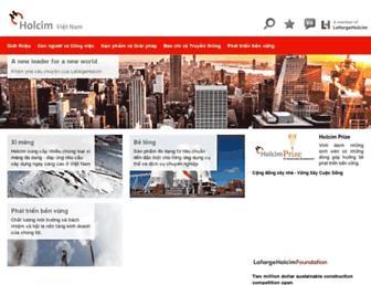holcim.com.vn screenshot