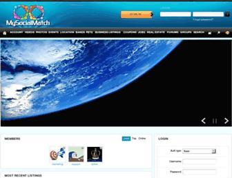 mysocialmatch.com screenshot