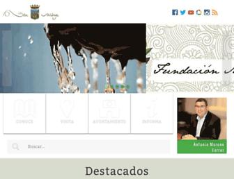 Main page screenshot of velezmalaga.es