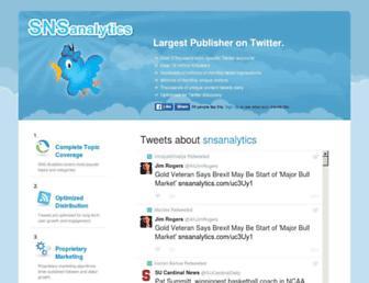 Thumbshot of Snsanalytics.com