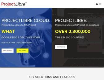 projectlibre.com screenshot