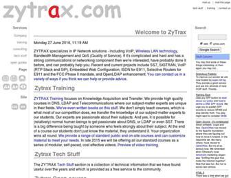 zytrax.com screenshot