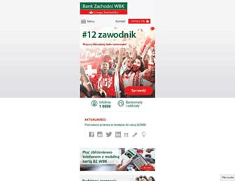Main page screenshot of bzwbk.pl