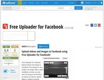 free-uploader-for-facebook.en.softonic.com screenshot