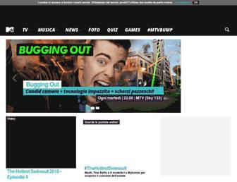 Main page screenshot of mtv.it
