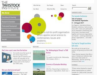 Main page screenshot of tavinstitute.org