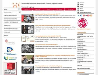 Main page screenshot of hs-augsburg.de