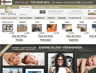 Main page screenshot of fineartprint.de