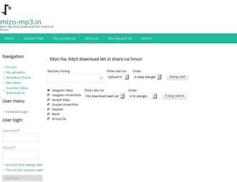 mizo-mp3.in screenshot