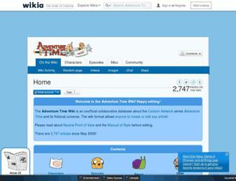 adventuretime.wikia.com screenshot
