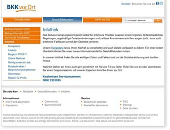 Main page screenshot of ip-bkkvorort.de