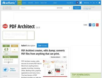 pdfarchitect.en.softonic.com screenshot