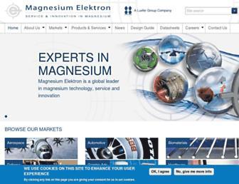 magnesium-elektron.com screenshot