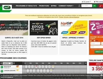 info.pmu.fr screenshot