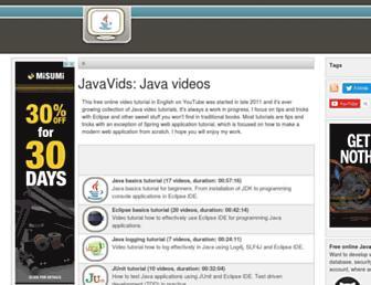 javavids.com screenshot