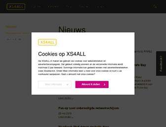 Main page screenshot of blogger.xs4all.nl