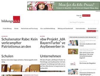 Main page screenshot of bildungsklick.de