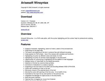winsyntax.com screenshot