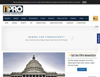 Main page screenshot of itpro.co.uk