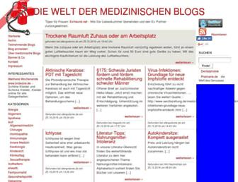 Main page screenshot of medicalblogs.de