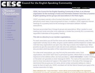 Main page screenshot of cesc.online.fr