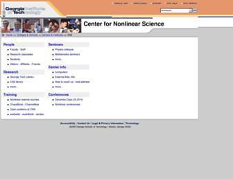 Main page screenshot of cns.gatech.edu