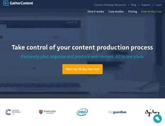 gathercontent.com screenshot