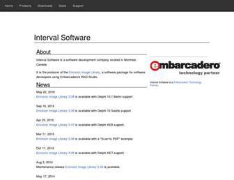 intervalsoftware.com screenshot