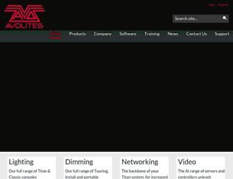 avolites.com screenshot
