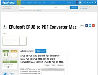 epub-to-pdf-mac.en.softonic.com screenshot