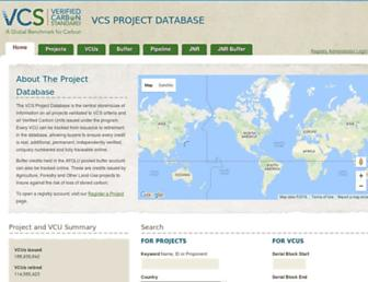 vcsprojectdatabase.org screenshot
