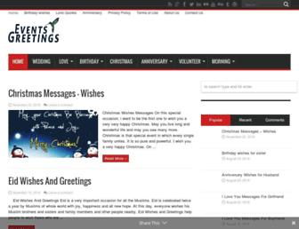 eventgreetings.com screenshot