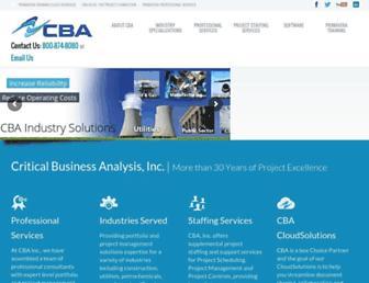 cbainc.com screenshot