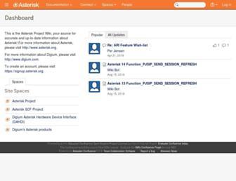 wiki.asterisk.org screenshot