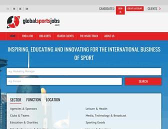 globalsportsjobs.com screenshot