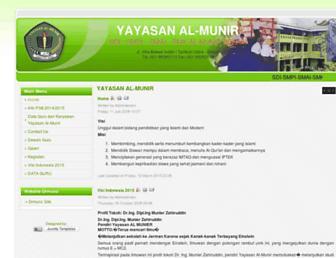 yayasan-almunir.org screenshot