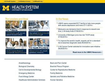 medicine.umich.edu screenshot